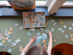 (Willowpoppy) Tags: winter home childhood puzzle lucia jigsaw february motherhood 2015