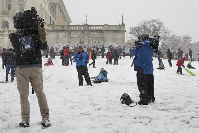 More media than sledders?