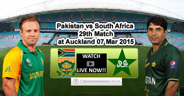 Pakistan vs South Africa 29th Match at Auckland 07 Mar 2015 Recenttricks