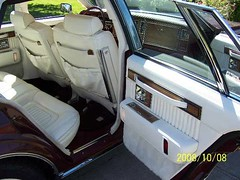1983 Cadillac Seville (smokuspollutus) Tags: red white leather wire interior wheels seville cadillac 1983