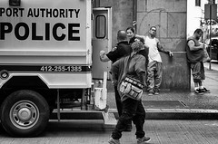 Peace (Rich McPeek) Tags: street usa photography us pittsburgh peace cops pennsylvania streetphotography police streetphoto socialdocumentary humancondition streetphotographer