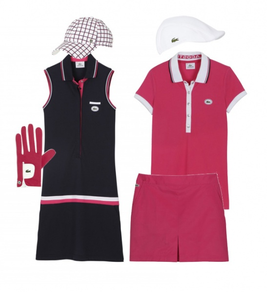 Pretty in pink, pink LACOSTE spring/summer 2011 women's golf series