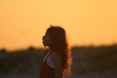 untitled (may-in-june) Tags: ocean light sunset portrait people orange sun beach silhouette colorful poetry poem bright outdoor dusk lbi