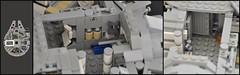 Millennium Falcon - Interior (Port-side Corridor) (Inthert) Tags: scale star mod ship lego interior millennium system solo falcon wars han chewbacca 4504 moc