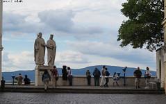 monument (the_sam) Tags: people monument statue clouds canon cano powershot veszprm 2016 g1x