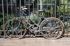 Blue Bike (jschumacher) Tags: nyc bicycle abandonedbicycle