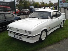 Ford Tickford Capri E511HWK (Andrew 2.8i) Tags: 45th year anniversary ford capri brooklands weybridge surrey club show classic classics car hatch hatchback coupe tickford 28 injection turbo v6 cologne youngtimer all types transport