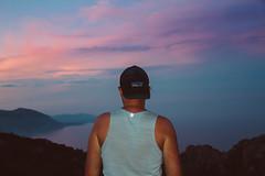 shoreline ([ I w a n ]) Tags: sardegna travel sunset italy outdoors back sardinia shoreline wanderlust backpacking pinkclouds bivouac bivy golfodiorosei