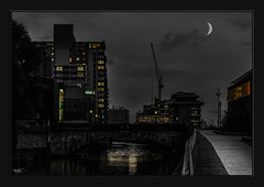 Moon River (Kevin From Manchester) Tags: bridge england sky building architecture clouds river manchester waterfront outdoor lancashire citycentre hdr waterways riverirwell canon1855mm greatermanchester photoborder kevinwalker canon1100d