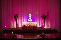 Outstanding #uplighting and #pinspot highlight this #wedding #cake! Great photo via #modwedding (RentMyWedding) Tags: diy rentmywedding wedding uplighting diywedding weddingideas weddinginspiration ideas inspiration celebration weddingreception party weddingplanner event planning dreamwedding