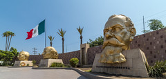 Golden Trio (james.froumis) Tags: d750 ensenada cruise bajacalifornia mexico rokinon 14mmf28 plazacivica statue nikon