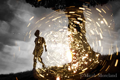 The Time Traveler (micahmoreland) Tags: fiction light reflection contrast artistic surreal science scifi mysterious sciencefiction