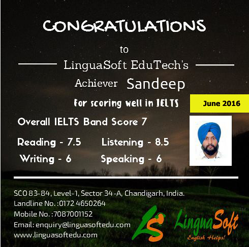 Sandeep Singh - IELTS Band Score 7