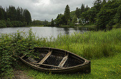 Moored and Abandoned (garry q) Tags: lake water river landscape boat outdoor rustic scottish serene loch trossachs lochs ard rusti