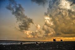 福寶濕地 夕陽 (bibi.barbie) Tags: taiwan 海 海浪 屏東縣 456k 枋山 夕陽 雲彩 天空 水