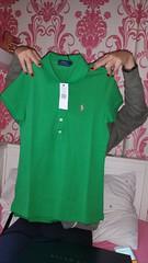 Ralph Lauren new top (Carol B London) Tags: ralphtop ralphlauren tshirt ralphlaurentop ladiestop greentop rl rash red sore itchy redrash back myback itchyback