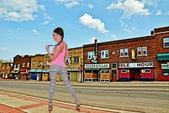 Ice Girl On Silver Street (chumlee10) Tags: upnorthspring street silver hurley wi wisconsin hur