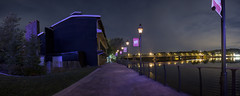 365-250 ( estatik ) Tags: 365250 365 250 july212016 72116 thurs thursday night long exposure panorama new hope pa pennsylvania bucks county playhouse zadar promenade gaslight walkway river delaware bridge free lambertville nj jersey hunterdon lights nocturne sky