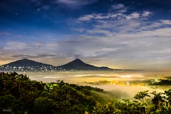 Merbabu & Merapi (nicaldy) Tags: morning magelang java centraljava sunrise borobudur indonesia landscape mist mistymorning mountain outdoors longexposure mountainside