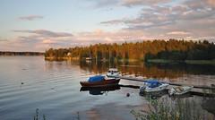 strandvgen till Kokkola, Karleby (Mika Lehtinen) Tags: strandvgen sea boats boat sky cloud clouds lake sunset