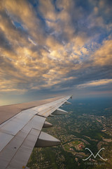 Golden Wing (Mike Ver Sprill - Milky Way Mike) Tags: airplane window seat air bus sunset sunrise beautiful cloud city clouds above fly flying flight travel explore inside plane nikon d800 wide angle gorgeous unique surreal serene amazing capture great photography fine art home decor perspective point view sky colorful circle round golden wing