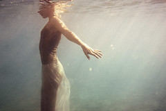 E. (georgekamelakis) Tags: color crete cinematic georgekamelakis greece greek girl underwater dress emotive emotion hair