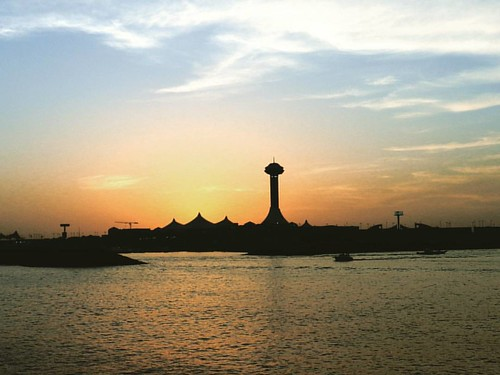 Sunset over Abu Dhabi Marina Mall.  #SunSet #sea Beach #ocean #AbuDhabi #marinamall #lifeinabudhabi #UAE