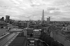 Looking out from the 10th floor observation platform in Tate Modern's extension (IanAWood) Tags: london nikondf walkingwithmynikon cityscape londonskyline southoftheriver southwark tatemodernswitchhouseviewingplatform afsnikkor24mmf14ged flaneur