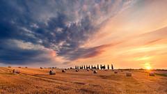 Sunset dans la Limagne (Dg.63) Tags: sunset color yellow summer blue field nature sun clouds 6d canon fullframe nisi 1635 auvergne france nisifilter landscape amazingamateur trees