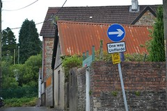 Urban exploration Flickr friday (jan.ashdown) Tags: sign urban walkway lane roof rusty