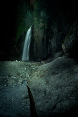Franklin Falls (bombeeney) Tags: pacificnorthwest waterfall a7s night dark scary pnw franklinfalls snoqualmiepass i90
