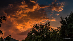 Clouds at sunset (Milen Mladenov) Tags: 2016 july landscape nikond3200 varbovchets clouds fire forest grass green hot mountain mountaintop peak road sky summer sun sunset trees view