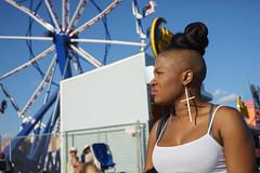 Cross (dtanist) Tags: nyc newyork newyorkcity new york city sony a7 contax zeiss carlzeiss carl planar 45mm brooklyn coney island boardwalk cross earrings hairstyle