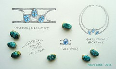 Set (MAURO CATEB) Tags: drawing design jewelrydesign jewelrydrawing silver scarab glazedscarab parure