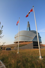 Canadian Museum of Human Rights (36ViewsGuy) Tags: canada museum winnipeg tourism architecture icon modern canadian flag manitoba tower