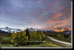 Mount Sneffels Sunset (Daryl L. Hunter - Hole Picture Photo Safaris) Tags: autumn daryllhunter falcolors sanjuanmountins usa colorado coloradorockies goldenaspen redoak rockymountains snowcappedmountains unitedstates