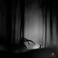 Limbes (S.D.G Photographie) Tags: dark sombre limbo limbes videogames foret darkness tenebre creativeedit creation bw araigne spider silhouette