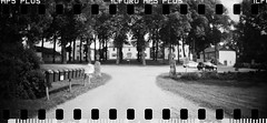 2016-08 - 069SR - DSC_9983 (sarajoelsson) Tags: sprocketrocket blackandwhite bw panorama panoramic sprocketholes digitizedwithdslr toycamera ilford sweden 135 35mm 2016 hp5 monochrome plasticlens everydaylife filmphotography filmisnotdead believeinfilm filmshooter film wideangle biskopsarn hc110 lomography lomo summer august