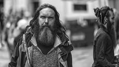 Beards (Frank Fullard) Tags: frankfullard fullard candid street portrait mono blackandwhite beard galway irish ireland grey