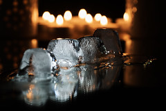 Ice on fire [In Explore 2016-10-03] (Budoka Photography) Tags: ice mirror water fire contaxsplanar60mmf28 zeiss manualfocus manual indoor 7dwf