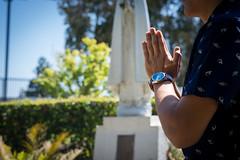 Reverance (kevin_nagooyen) Tags: bellarmine watch nixon rolex jesuit catholic roman athiest agnostic mary jesus saints church cathedral fashion prayer wrist hand focus vibrancy sunlight