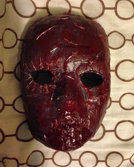Seven Deadly Sins: Wrath (Gemini Designs) Tags: revenge wrath sevendeadlysins halloween art mask grey silver metal blood bloody red