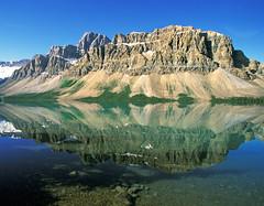 Crowfoot Mountain and Bow Lake, Banff National Park, Alberta, Canada, 1999 (.JL.) Tags: alberta jackson 1999 jacksonloi loi canada banffnationalpark