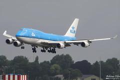 KLM --- Boeing 747-400 --- PH-BFI (Drinu C) Tags: adrianciliaphotography sony dsc hx100v ams eham plane aircraft aviation 747 klm boeing 747400 phbfi