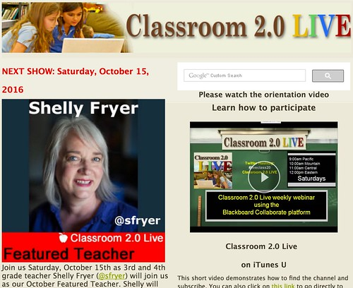 Shelly Fryer on Classroom 2.0 LIVE by Wesley Fryer, on Flickr
