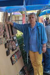Jose Maria Bernardo (L Urquiza) Tags: bazar del sbado mexico san angel jacinto artist artista street vendor city ciudad art portrait