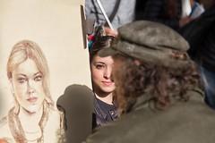 il ritratto (mat56.) Tags: ritratto portrait donna woman pittore painter ragazza girl artist artista street firenze toscana florence tuscany persone people antonio romei mat56