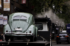 Retired nostalgia (aerojad) Tags: vancouver yvr vacation travel wanderlust vancouver2016 urban citylife cityview streetphotography gastown classiccar classic beetle green pnw pacificnorthwest