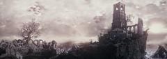 Dark Souls III (ConnecteD\_) Tags: dark souls iii sky mountains tower tree ruins screenshot panoramic panorama
