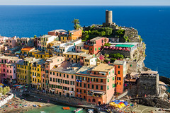 What sunshine is to flowers, smile is to humanity (Clems999) Tags: cinque terre italy liguria village sea sun
